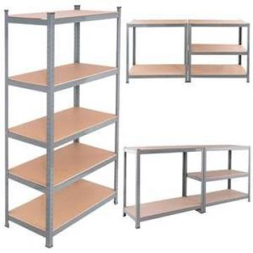 Heavy Steel Metal Supermarket/Warehouse Display Adjustable Rivet Rack Shelving